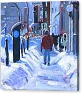 Montreal Winter Downtown Acrylic Print