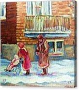 Montreal Winter Scenes Acrylic Print