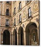 Montserrat Monastery Courtyard Acrylic Print