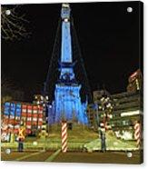 Monument Circle Indianapolis At Night Acrylic Print