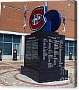 Monument For The Montreal Canadiens Acrylic Print
