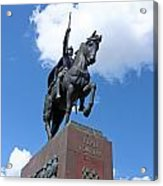 Monument Of King Tomislav Acrylic Print by Borislav Marinic