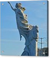 Monument To The Immigrants Statue 2 Acrylic Print