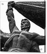 Monument To The People 0131 - Textured Pencil Acrylic Print