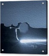 Monument Valley At Night 2 Acrylic Print