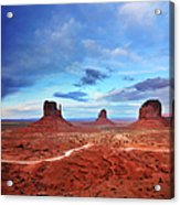 Monument Valley Cool Light After Sunset Acrylic Print