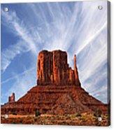 Monument Valley - Left Mitten 2 Acrylic Print by Mike McGlothlen