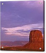 Monument Valley Red Rock Formations At Sunrise Acrylic Print