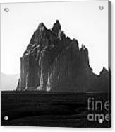Monument Valley Region-arizona Black And White Acrylic Print