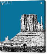 Monument Valley - Steel Acrylic Print by DB Artist