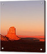 Monument valley sunset pano Acrylic Print