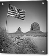 Monument Valley Usa Bw Acrylic Print