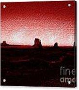 Monument Valley -utah V5 Acrylic Print