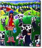 Moo Cow Farm Acrylic Print