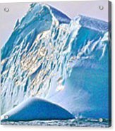 Moody Blues Iceberg Closeup In Saint Anthony Bay-newfoundland-canada Acrylic Print