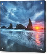 Moody Blues Of Oregon Acrylic Print by Darren  White