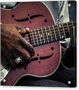 Moody Blues On Steel Acrylic Print