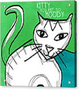 Moody Cat- Pop Art Acrylic Print