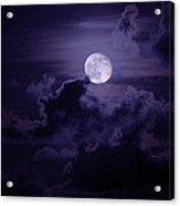 Moody Moon Acrylic Print
