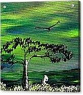 Moomintroll And Lighthouse Acrylic Print