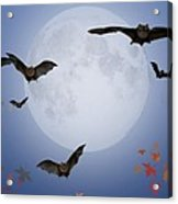 Moon And Bats Acrylic Print