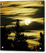 Moon And Clouds, Mont-saint-bruno Acrylic Print