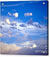 Moon And Clouds Acrylic Print