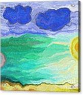 Moon Bathing Acrylic Print