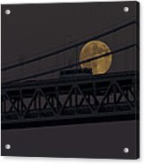 Moon Bridge Bus Acrylic Print