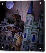 Moon Drops Acrylic Print