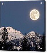 Moon Glow Whistler Canada Acrylic Print by Pierre Leclerc Photography