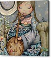 Moon Guitar Acrylic Print by Karin Taylor