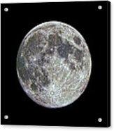 Moon Hdr Acrylic Print