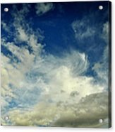 Moon In Clouds Acrylic Print