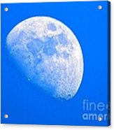 Moon In The Blue Sky. Acrylic Print