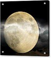 Moon In The Fog Acrylic Print