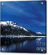 Moon - Lake Acrylic Print
