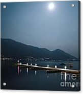 Moon Light And A Port Acrylic Print