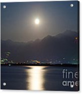 Moon Light Over A Lake Acrylic Print by Mats Silvan