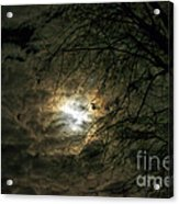 Moon Light With Clouds Acrylic Print