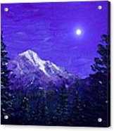 Moon Mountain Acrylic Print