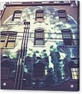 Moon Mural At The 5 Walnut Wine Bar Acrylic Print