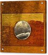 Moon On Gold Acrylic Print by Carol Leigh