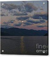 Moon On The Lake Acrylic Print