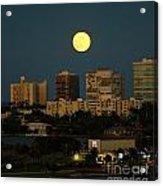 Moon Over Bal Harbour Acrylic Print