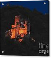 Moon Over Burg Katz Acrylic Print