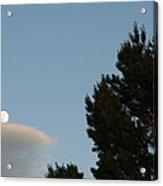 Moon Over Cloud Acrylic Print