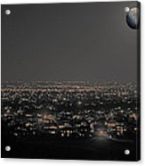 Moon Over Fort Collins Acrylic Print