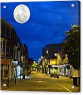 Moon Over Harrogate Uk Acrylic Print