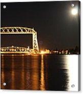 Moon Over Lake Superior Acrylic Print